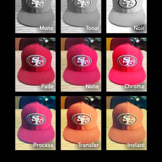 Voici les filtres de l'application caméra, qui seront probablement abusés autant que ceux d'Instagram avec le temps.