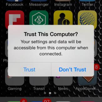 On vous demandera d'approuver le branchement de votre téléphone à un ordinateur à toutes les fois.
