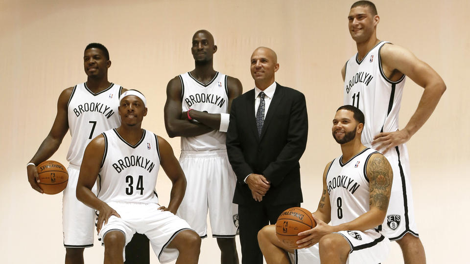 Joe Johnson, Paul Pierce, Kevin Garnett, Jason Kidd, Deron Williams, and Brook Lopez