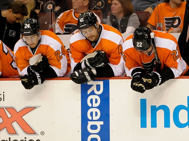 Flyers bench