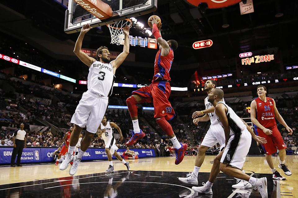 NBA: Preseason-CSKA Moscow at San Antonio Spurs