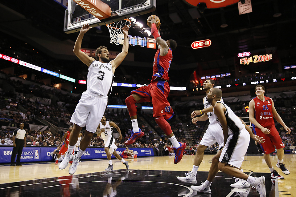 NBA: Preseason-CSKA Moscow at San Antonio Spurs