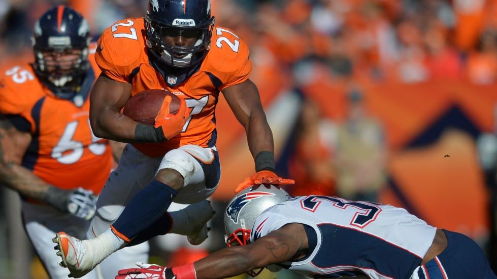Le porteur de ballon des Broncos de Denver, Knowshon Moreno.